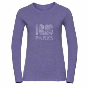 RS Parks t-paita pitkähihainen violetti