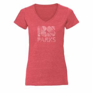 RS Parks t-paita v-aukko naiset tiili